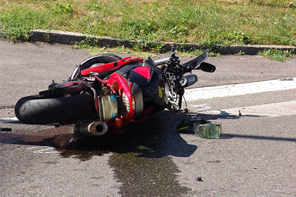Incidente stradale con moto