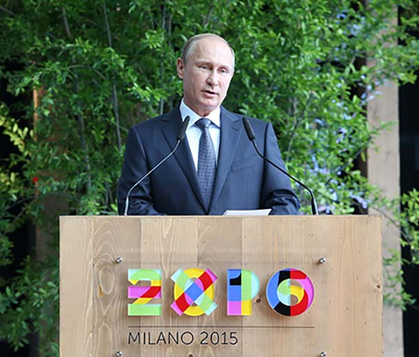 Putin all'Expo milano